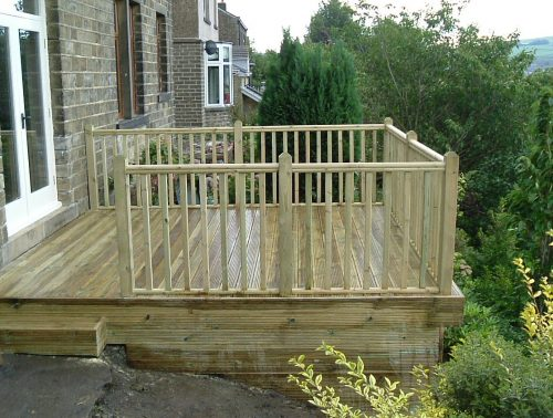 Decking kit 3 SIDED BALUSTRADE