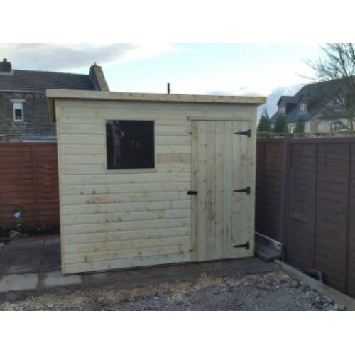 PRESSURE TREATED PENT GARDEN SHED -I-WINDOW-