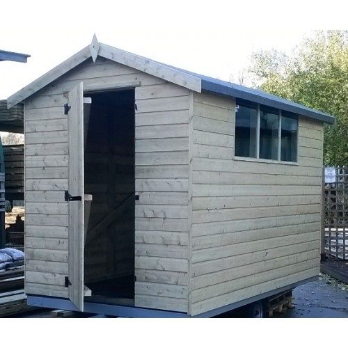PRESSURE-TREATED-APEX GARDEN SHED STANDARD PLUS