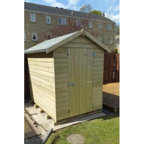 PRESSURE TREATED APEX GARDEN SHED STANDARD PLUS -NO-WINDOW-TREATED-