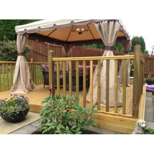 decking-kit-balustrade on 2 sides