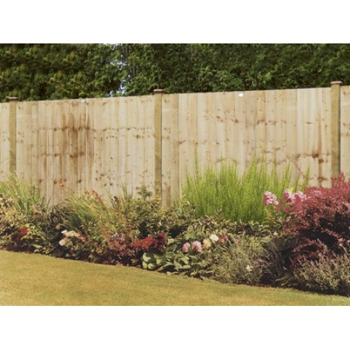 feathered-edge-fence panel-